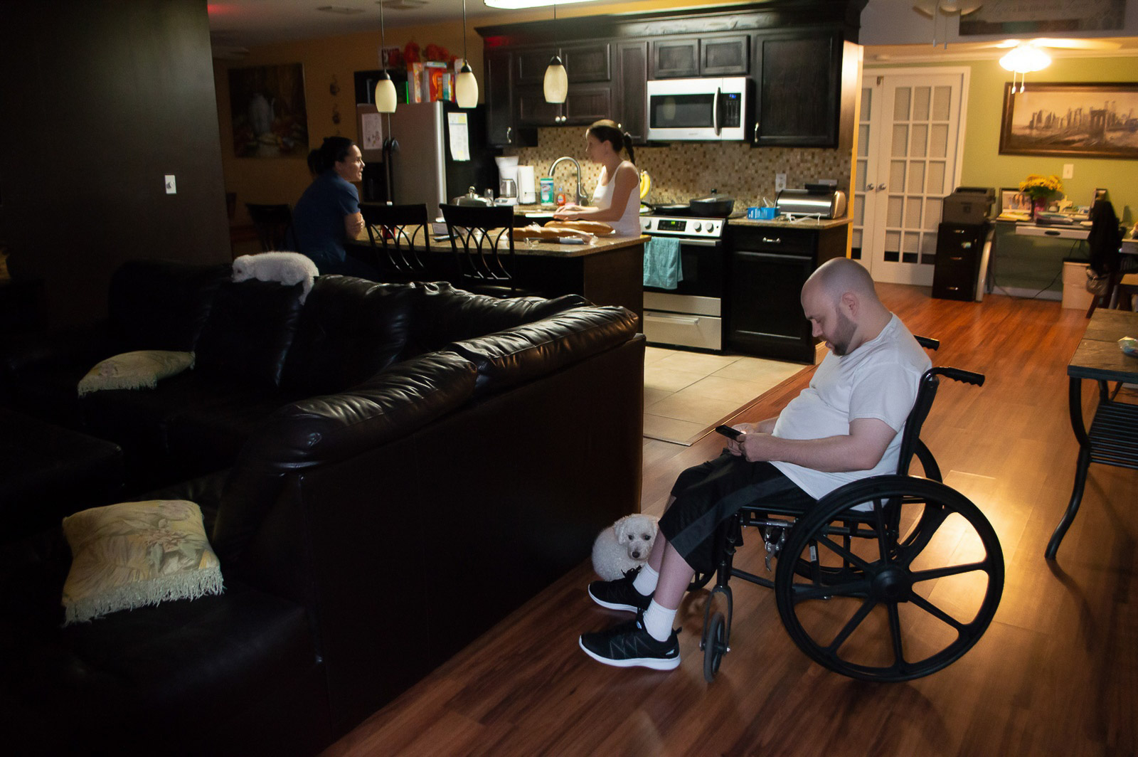 Group home resident in a wheelchair
